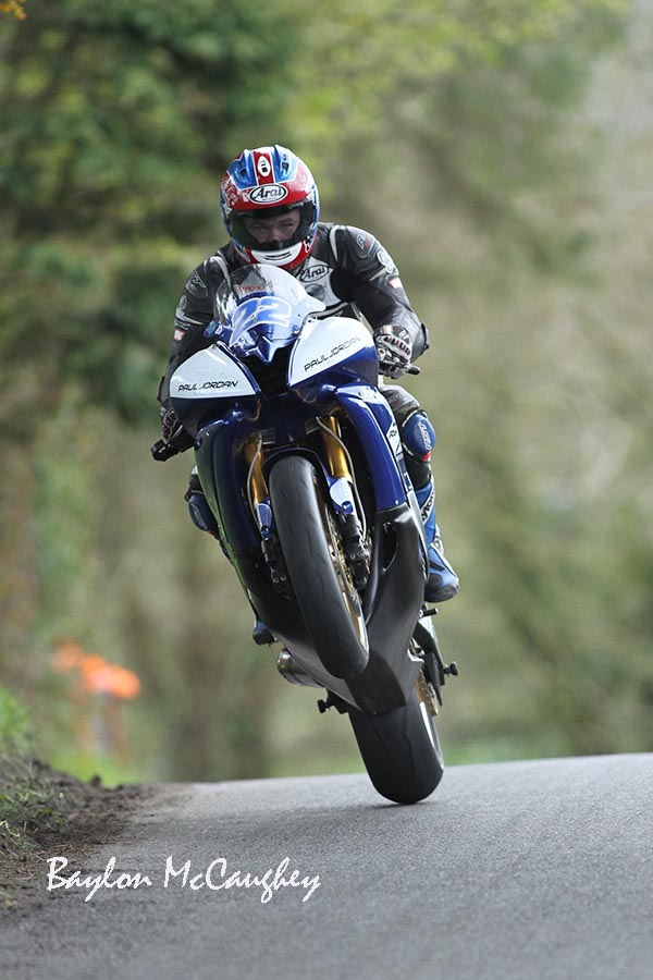 Jordan aimimg for the Top at KDM Hire Cookstown 100